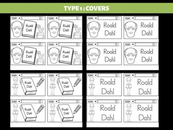 FLIPBOOKS : Roald Dahl - Author Study and Research