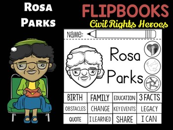 FLIPBOOKS : Rosa Parks  - Civil Rights Heroes