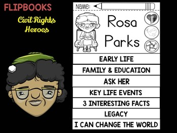 FLIPBOOKS Bundle : Rosa Parks  - Civil Rights Heroes