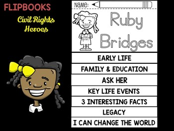 FLIPBOOKS Bundle : Ruby Bridges  - Civil Rights Heroes