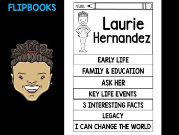 FLIPBOOKS SET : Laurie Hernandez - Latino & Hispanic Heritage