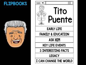 FLIPBOOKS SET : TIto Puente - Latino & Hispanic Heritage