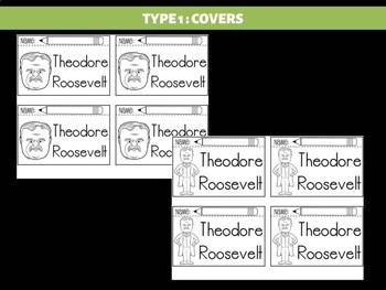 FLIPBOOKS Bundle : Theodore Teddy Roosevelt - Flip book, US President