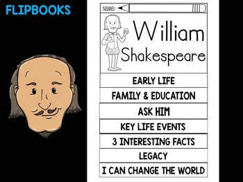 FLIPBOOKS Bundle : William Shakespeare - Flip book