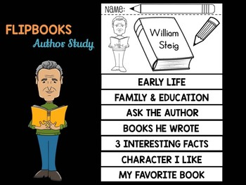 FLIPBOOKS Bundle : William Steig - Author Study and Research