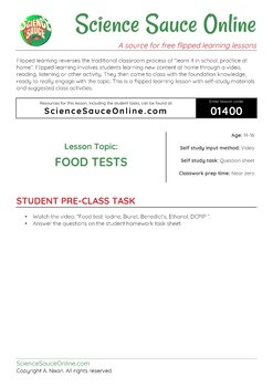 FLIPPED LEARNING: Food Tests Laboratory Experiments
