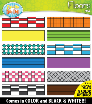 FLOORS Build-A-Room Clipart {Zip-A-Dee-Doo-Dah Designs}