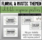 FLORAL & RUSTIC THEMED CLASSROOM DECOR: READER RESPONSE POSTERS