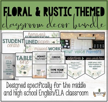 Ela High School Classroom Decor Worksheets & Teaching
