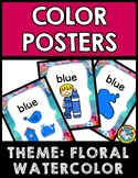 FLORAL WATERCOLOR CLASSROOM DECOR SET (COLOR POSTERS FOR K