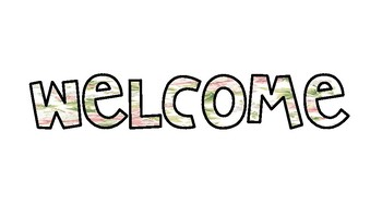 FLORAL Welcome sign!