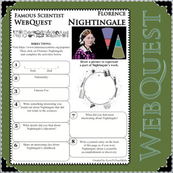 FLORENCE NIGHTINGALE Science WebQuest Scientist Research Project Biography Notes