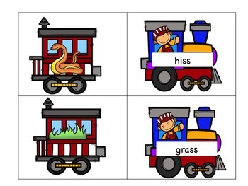 FLOSS Build-a-Train Phonics Activities/Literacy Centers
