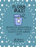 FLOSS Double Consonants (ZZ, SS, FF, LL) Rule Poster and Picture Match