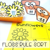 FLOSS Double Consonants (ZZ, SS, FF, LL) Rule Sunflowers Sort (Orton-Gillingham)