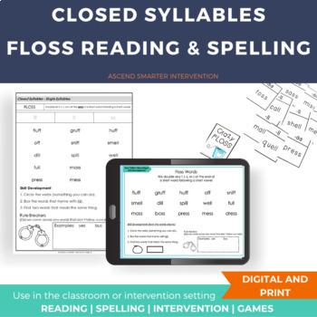 FLOSS Spelling Rule Activities - Orton Gillingham