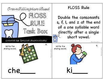 FLOSS Rule Task Box (Orton-Gillingham)