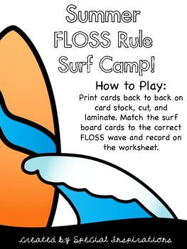 FLOSS Surf Camp Sorting Literacy Center