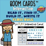 FLOSS rule Boom Cards™ Phonics Read, Find, Build, Spell