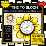 FLOWER CLOCK SPEECH & CLASSROOM DECOR  Speech Therapy