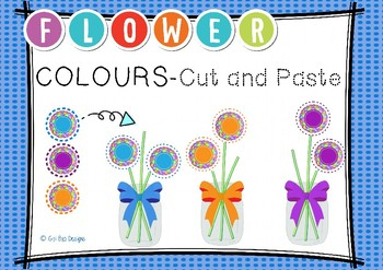 FLOWER COLOURS- CUT AND PASTE