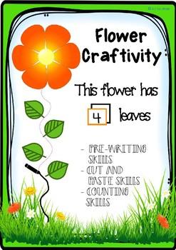 FLOWER CRAFTIVITY- IN ENGLISH