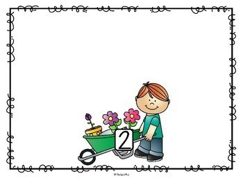 FLOWER GARDEN Counting to 10 - Seven Ways to Show Numbers