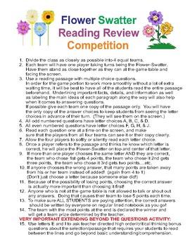 FLOWER SWATTER READING MULTIPLE CHOICE GAME