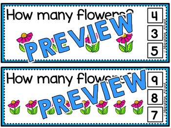 FLOWERS COUNTING CLIP CARDS: NUMBERS 1 TO 10: SPRING MATH CENTER