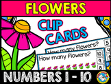 FLOWERS COUNTING CLIP CARDS (SPRING MATH CENTER) MAY ACTIV
