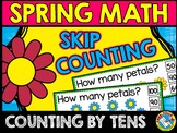 SPRING ACTIVITY KINDERGARTEN (SKIP COUNTING BY 10S CLIP CARDS) MAY MATH CENTER