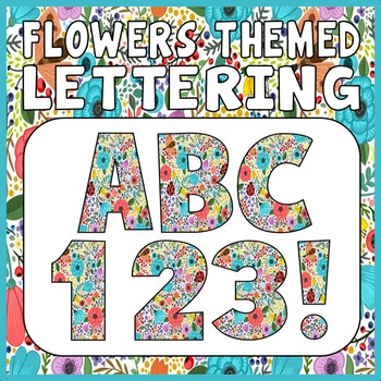 FLOWERS THEMED LETTERS, NUMBERS AND PUNCTUATION DISPLAY LETTERING SEASON GARDEN