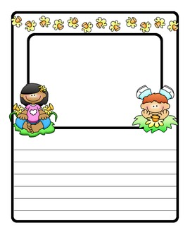 FLOWERS (for Spring): A differentiated writing resource for grades K-5