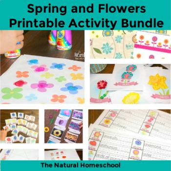 FLOWERS printable set BUNDLE 1 by The Natural Homeschool