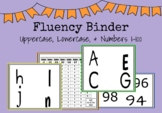 FLUENCY Binder - Letters, Sounds, Numbers 0-100 - Data Sheets INCLUDED!
