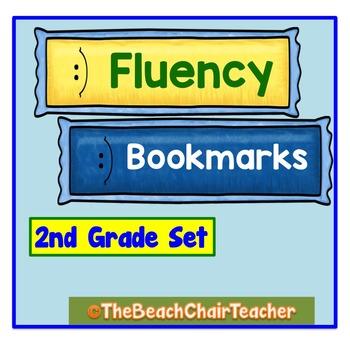 FLUENCY Bookmark 2nd Second Grade Practice & Assessment -