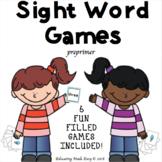 FLUENCY & FUN Sight Word Games! (Level I)