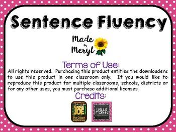 FLUENCY: READING FLUENCY SENTENCES