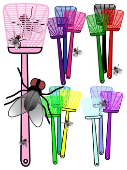 FLY CLIP ART * COLOR AND BLACK AND WHITE