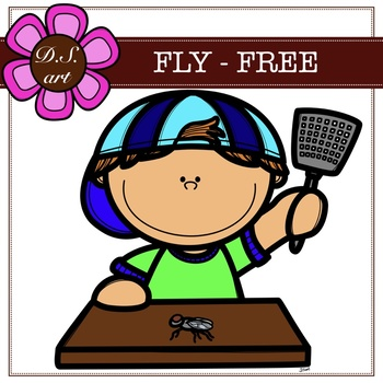 FLY - FEE Digital Clipart (color and black&white)