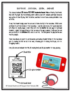 FLY GUY Accelerated Reader AR Listening Center w/20 QR Code Read Alouds & MORE