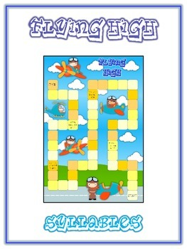 FLYING HIGH Syllables - ELA First Grade Folder Game - Word Work Center