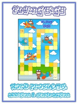 FLYING HIGH - Word Problems Adding & Subtracting - Math Folder Game