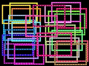 Digital Borders with Flowers - Many Popular Colors - Freebie!