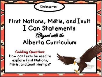 FNMI Kindergarten I Can Statements for Alberta Curriculum