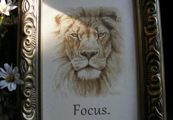 """""""FOCUS""""; 5"""" x 7"""" framed reminder"""