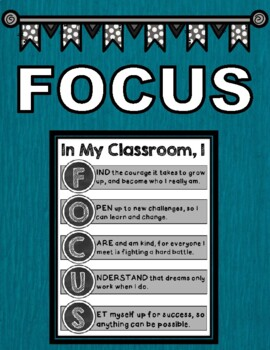 FOCUS Classroom Mission Statement by Teaching with a Louisiana Twist