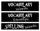 FOCUS WALL LABELS *Language Arts*