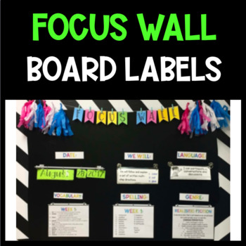 FOCUS WALL OR BOARD LABELS #finallyfall