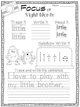 FOCUS on Sight Words